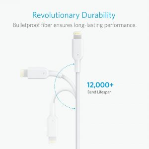 Anker I Phone Cable 12x 6ft White