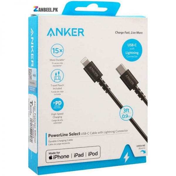 Anker PowerLine Select USB C To Lightning Cable 3ft.....