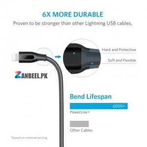 Anker PowerLine Select USB Cable With Lightning Connector 6ft Cable..