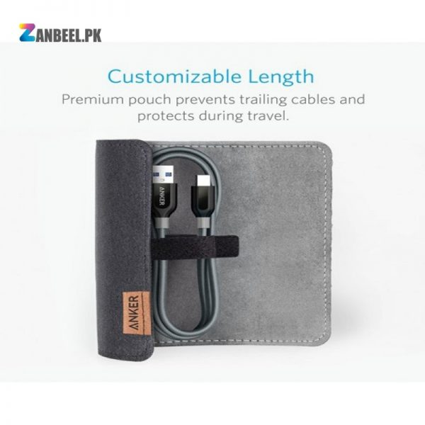 Anker PowerLine USB C To USB 3.0 Cable 3ft. Gray...
