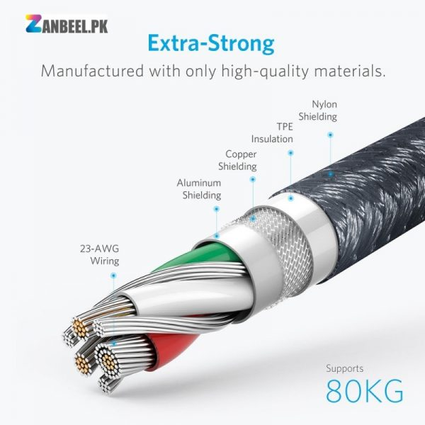 Anker Powerline USB C To USB A 3.0 Cable 6ft.....